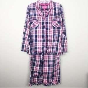 Victoria's Secret | Pink & Purple Plaid Pajama Set